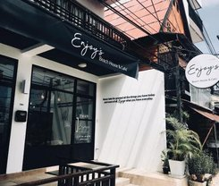 Enjoy's Beach House & Cafe' is located at 294 Patak Road on Phuket island in Thailand. Enjoy's Beach House & Cafe' has a guest rating of 7.1 and has Hotel amenities including: Wi-Fi